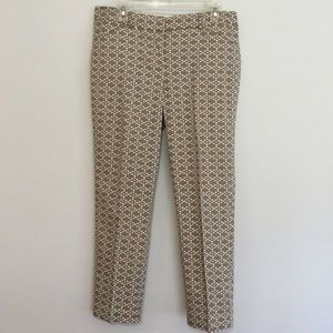 Zac & Rachel Ankle Pants in White & Taupe / Tan 10